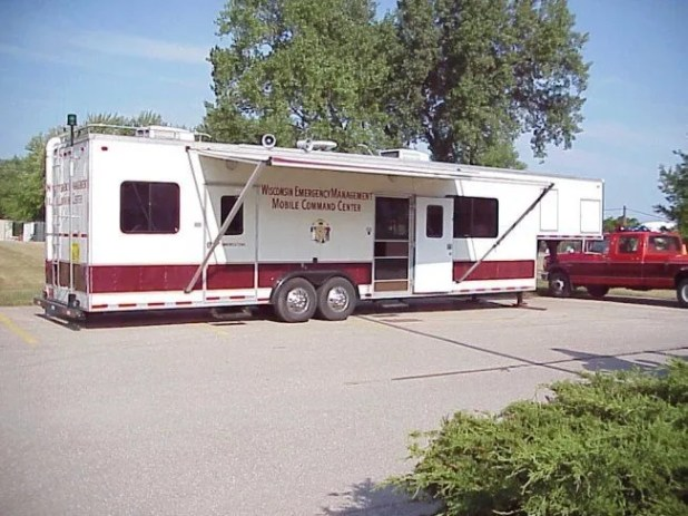 Let's just hope we don't get the modified horse trailer mobile command center.