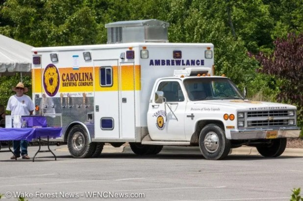 Genius. An ambulance and beer together.