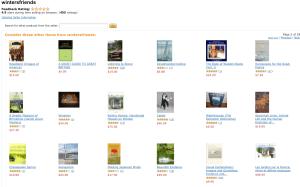 A screenshot of our wintersfriends Amazon online bookstore