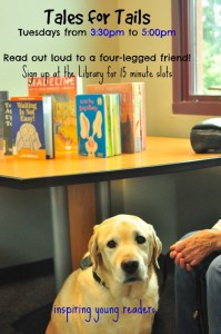 Tales for Tails Program at the Winters Community Library