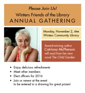 Winters Friends of the Library Annual Gathering November 2