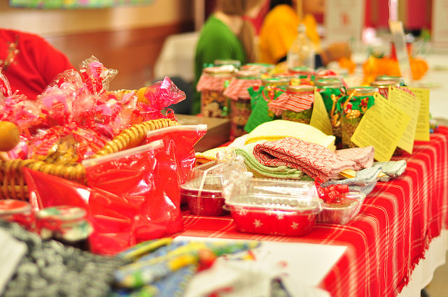 Hand-made goods for sale at the Winters Friends of the Library Family Holiday Festival