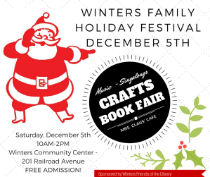 Family Holiday Festival December 5- Will Santa See You There?