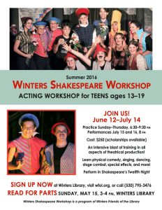Sign Up Now for Teen Actors Workshop!
