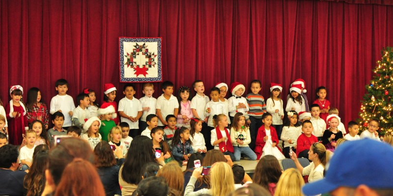 Classes performing at the Winters Friends of the Library Family Holiday Festival
