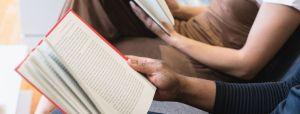People reading Celebrating National Library Week
