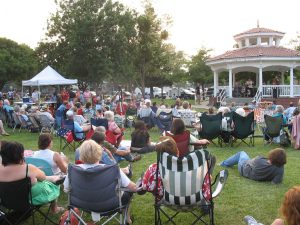 Winters Friends of the Library is excited to announce the lineup for the 2021 Summer Concerts at the Gazebo. The free outdoor concerts will be held on Thursday evenings in July, 7:00–8:30 p.m. at Rotary Park, Main Street at Railroad Avenue in downtown Winters.