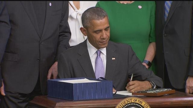 Image result for president obama signing mental health bill