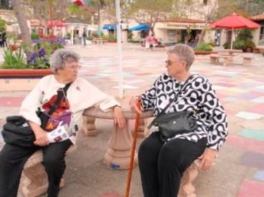Mary Lou Rankin and Bonnie Swinney in San Diego