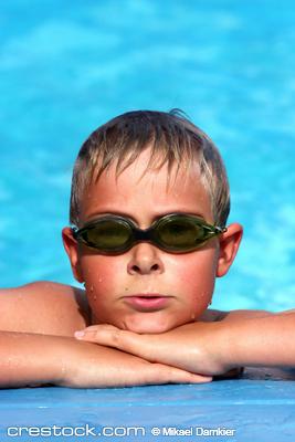 kid in pool