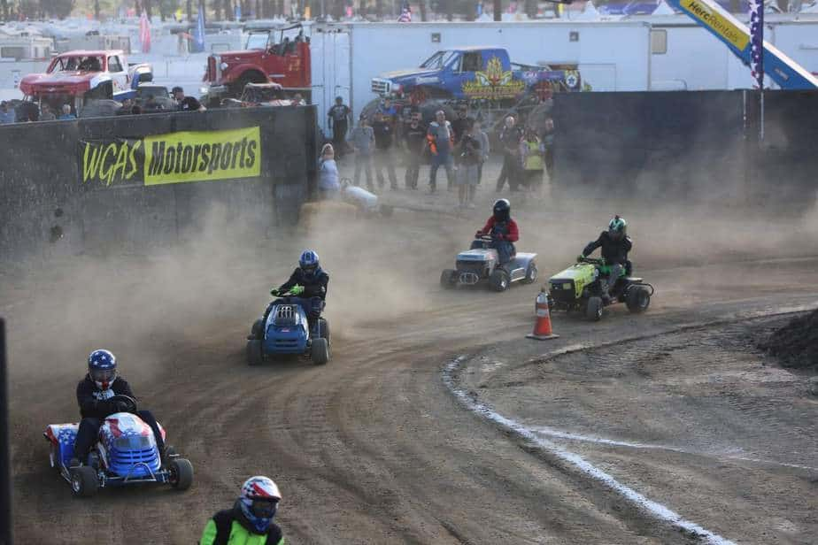 lawn mower racing riverside county fair wgas 2