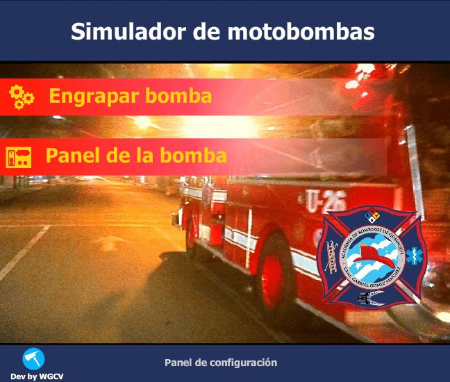 Simulador de motobombas de bomberos