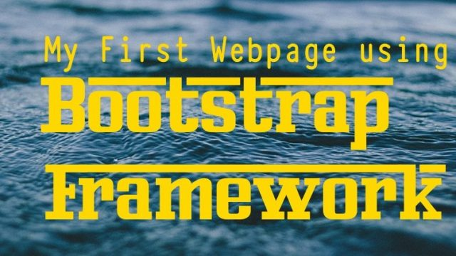 Bootstrap webpage