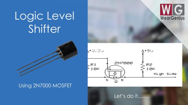2N7000 logic level shifter