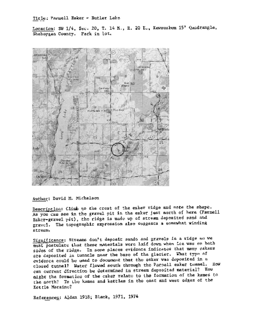 Wisconsin Geological & Natural History Survey » Sheboygan