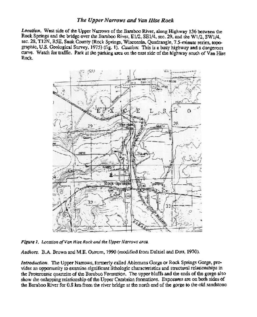 Wisconsin Geological & Natural History Survey » Sauk