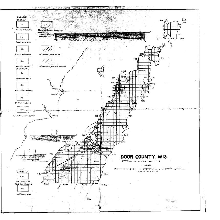 Wisconsin Geological & Natural History Survey » Bedrock