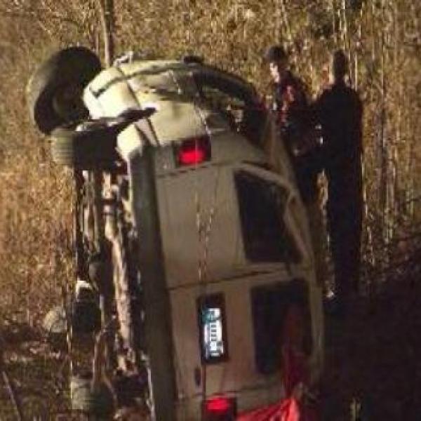 Unedited video of rollover van accident