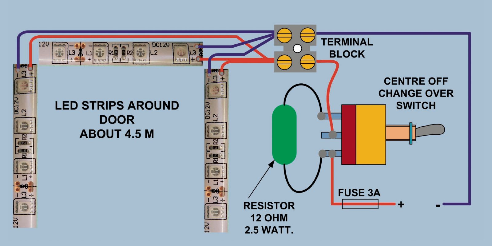 wiring diagram for led strip lights simple electron transport chain switch circuit maker