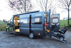 wheel chair batteries footrests for wheelchairs new wheelchair-accessible motorhome from wildax - news motorhomes & campervans out ...