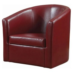 Swivel Club Chair With Ottoman Portable Shampoo Chairs Ottomans And Chaises Cabe Red