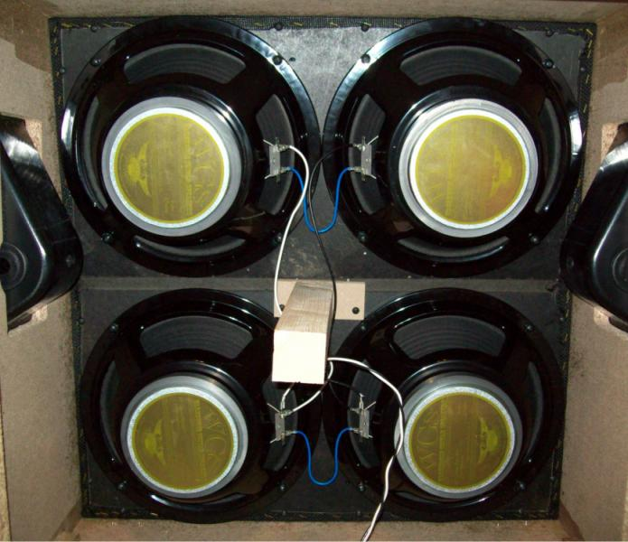 8 ohm speaker wiring diagrams plug power q2 how to properly wire a 4x12 cabinet warehouse guitar speakers here is pic of the in his marshall cab with new wgs green berets installed looks like good clean job