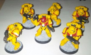 Imperial Fists Space Marines painted by me