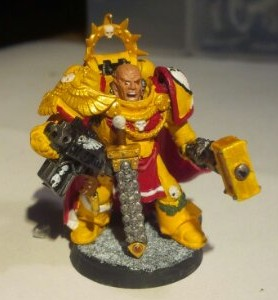 Imperial Fists Space Marine Captain: Front view