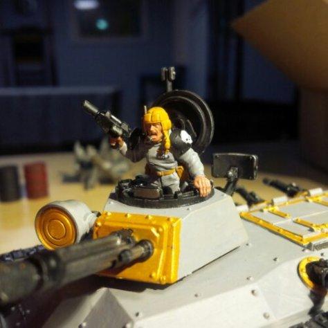 "Chimera ""Dauntless"". Detail of ""Tank Commander"""