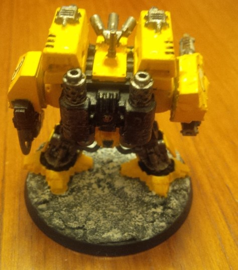 "Imperial Fists Space Marine Dreadnought ""Fort"" (Back View)"