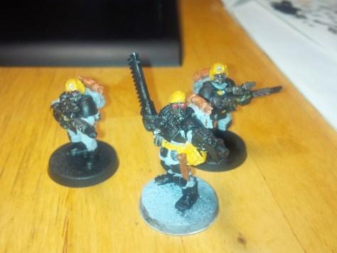 Work in progress of 3 of my 7 Tempestus Scions