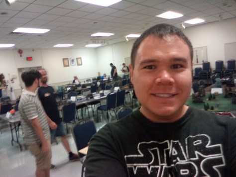 Selfie at the Warhammer 40k classic, my first tournament