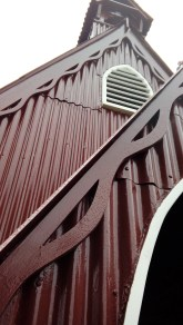 Clad in corrugated iron