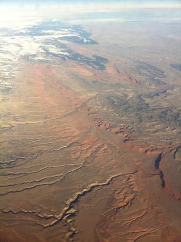 Flying over the southwestern US