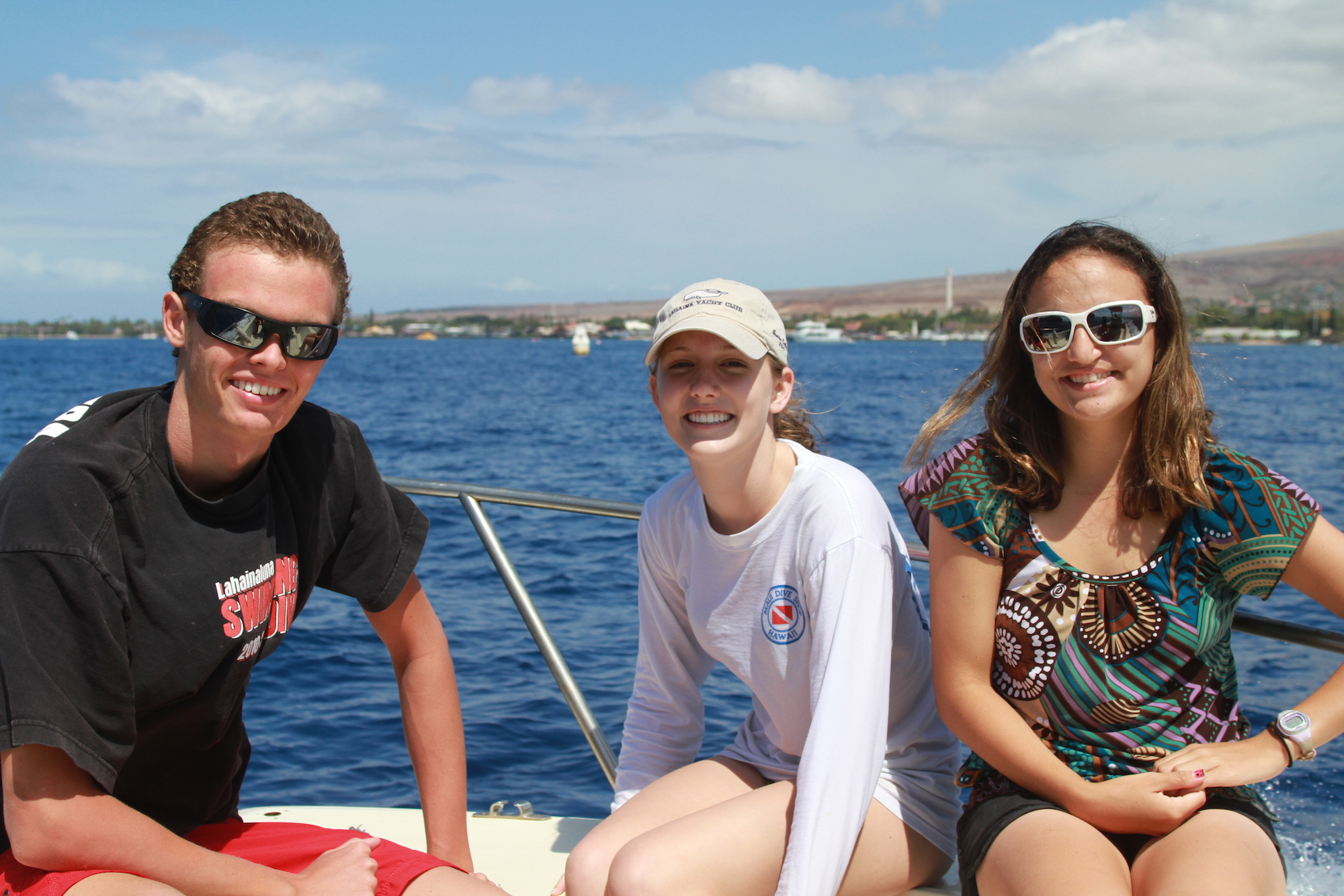 Lahainaluna students in the field with Whale Trust Maui
