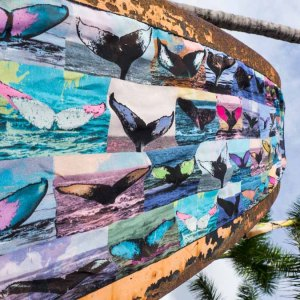 Whale Tales Singing Scarf Closeup