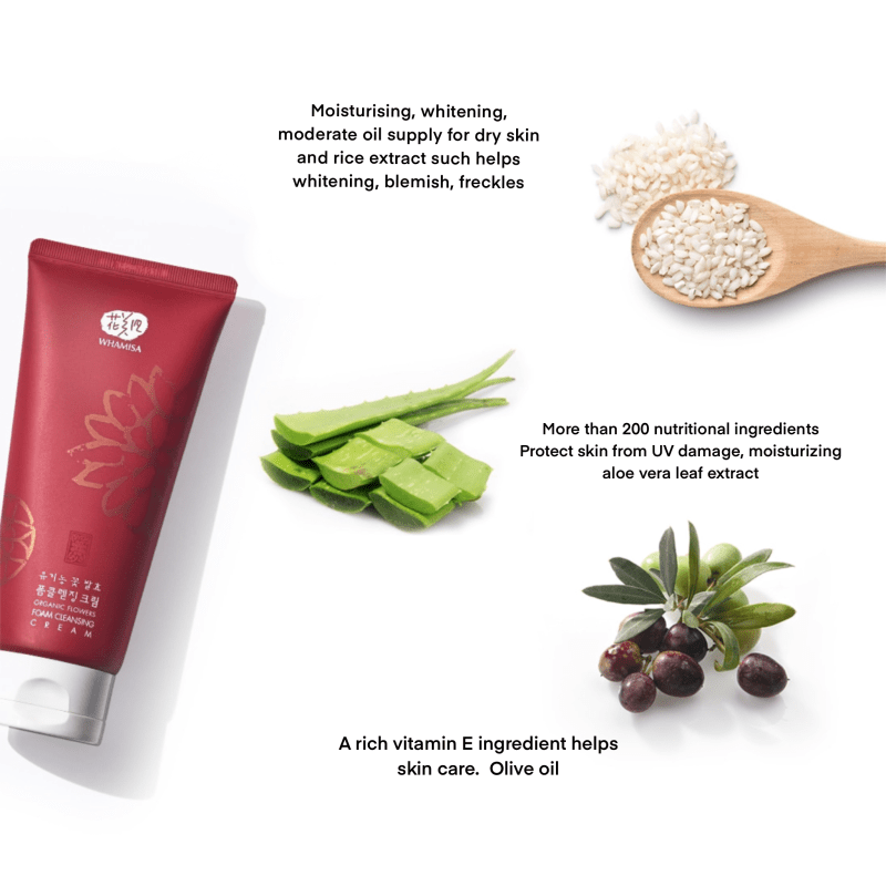 whamisa foam cleansing cream