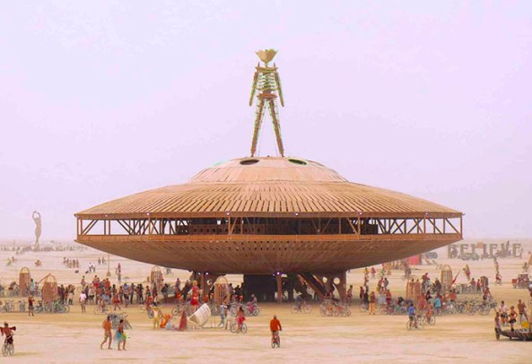 A camp at Burning Man.