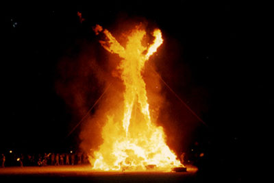 The Burning Man. Photo credit: Aaron Logan, Wikimedia Commons.