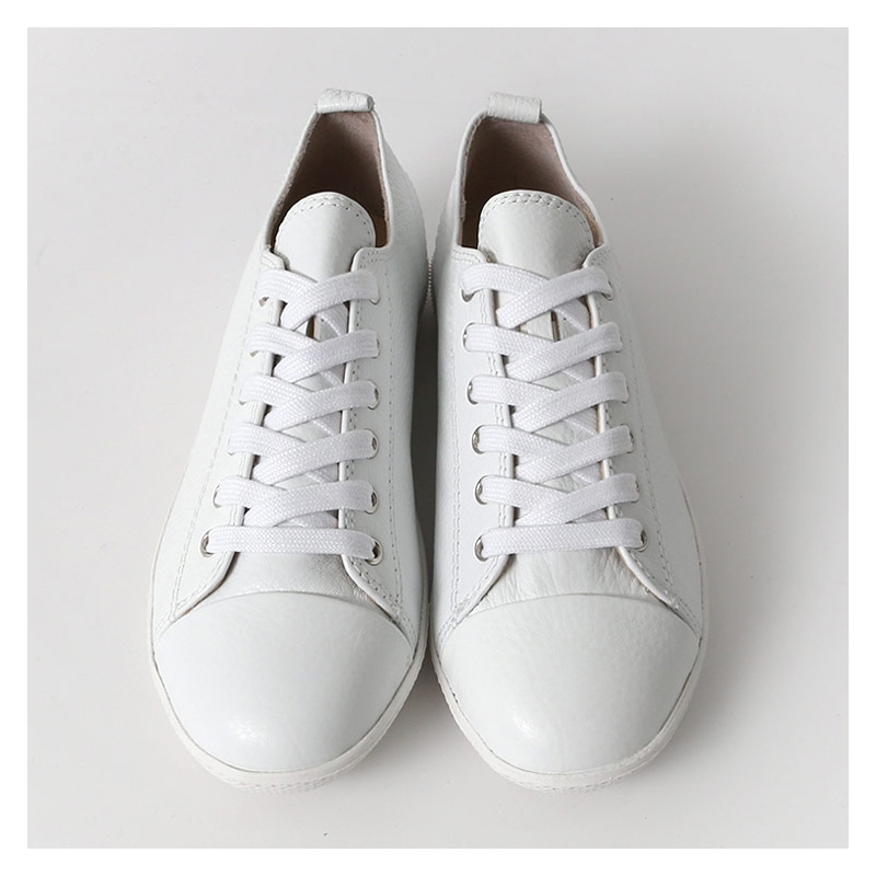 Womens Cap Toe Leather Lace Up Back Tap Sneakers Shoes