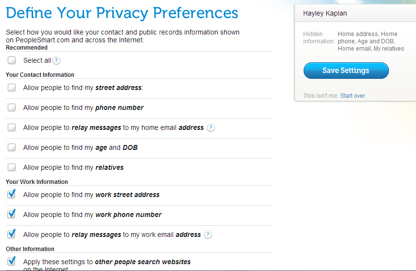 Define Your Privacy Preferences