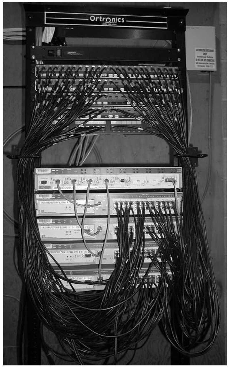 hight resolution of an mdf with rack mounted equipment a layer 2 chassis switch with six
