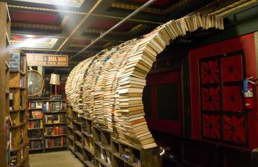 The Last Bookstore is housed in the Spring Arts Tower in Downtown L.A. and boasting 22,000 square feet of space, this haven of books is one of the last bastions of the written word on real paper.
