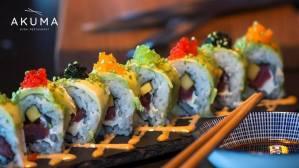 Akuma Sushi restaurant in Blanes.