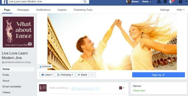 Live love learn modern jive facebook page screenshot