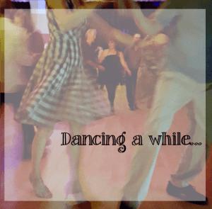 dancers twirling round modern jive dance floor