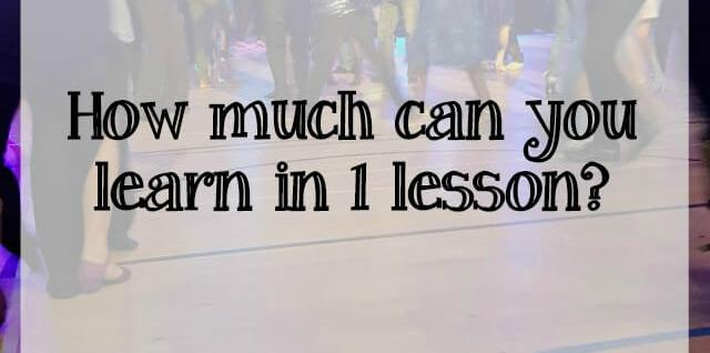 how much can you learn in 1 modern jive class - What about dance..