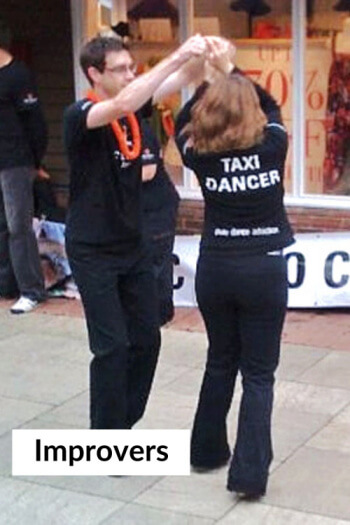 improvers taxi dancer with text small