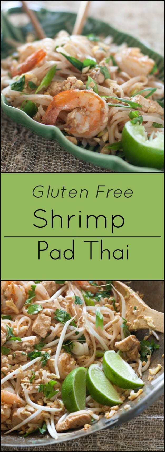 Gluten free Shrimp Pad Thai.