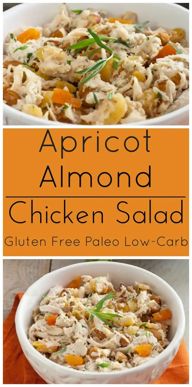 Apricot almond chicken salad is a creamy, all white meat chicken salad ...